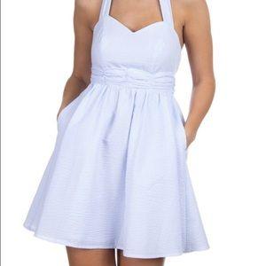 NWT Lauren James Stratton Dress Lt Blue